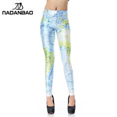 NADANBAO Summer Autumn Legging Legins New World Map 3d Digital Leggins Printed Women Leggings Woman Pants #fashionista #instastyle #styles #beautiful #love #style #sweet #shopping #dress #stylish