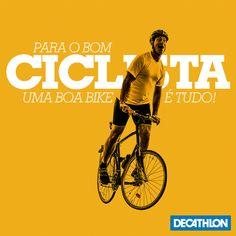 Ciclismo MTB, Speed, Cidade e Lazer, além de produtos para 55 esportes em um só lugar. Frases Biker, Mtb, Montain Bike, Decathlon, Breaking Bad, Bicycle, Motorcycle, Bikers, Poster