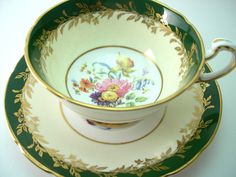 Antique Paragon Tea cup And Saucer Forest by AntiqueAndCrafts