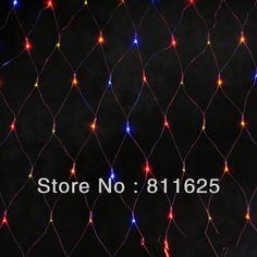 7 цвета 1.5x1.5 м 96 Светодиодов 8 режимы отображения 220 В чистая свет шнура сид Фестиваль Рождество новый год свадебная церемония свет