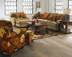 Home Design and Interior Design Gallery of Floral Fabric Sofas And Chairs