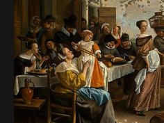 Dancing couple - Jan Steen  -  Completion Date: 1663 (egg shells on the floor again...)