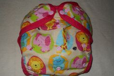 Zoo friends One size AI2 cloth diaper cover