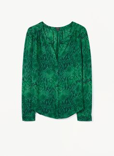 T. BABATON BERGEN BLOUSE - Feminine silk georgette gets a fierce update with a python print