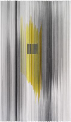 Anne Lindberg notations 05 2014 graphite & colored pencil on mat board 59 by 34 inches