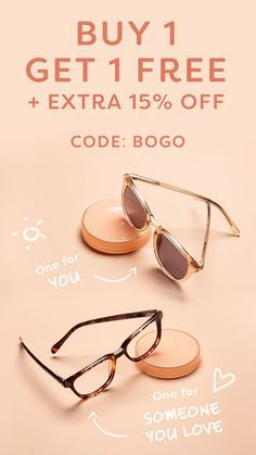13fa7d2ef86 Buy one pair of eyeglasses or sunglasses and get one for free! Purchase  today and