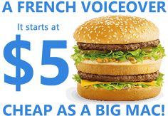 French-voice offers a voice-over service for everyone, as cheap as the price of a BigMac. The recordings are made by Eric Goulard, a voiceover professional in France. All recordings are guaranteed without any accent (French neutral accent) Most recordings are delivered in less than 24 hours and in HD quality #noaccent http://www.french-voice.fr/
