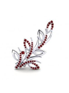 Glamira Brooch Elica in white gold with ruby. #GlamiraBrooch