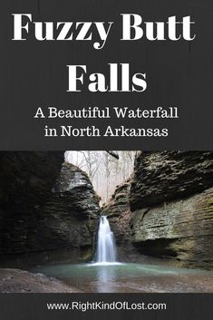Fuzzy Butt Falls – a great short waterfall hike in Arkansas' Richland Creek Wilderness Area for exploring after heavy spring rains. Arkansas Camping, Arkansas Vacations, Colorado Hiking, Eureka Springs Arkansas, Arkansas Usa, Arkansas Waterfalls, Places To Travel, Places To See, Ozark National Forest