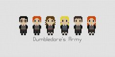 This pattern features characters of Harry Potter: Harry, Ron, Hermione, Luna, Neville & Ginny. This is a listing for a pattern only. It is a PDF
