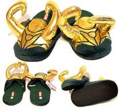 ec62feedf9f Details about Marvel Loki Horned Non- Slip Slippers (S M Shoe Size Men 8-9