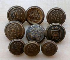 Set of 9 Latvian Army Buttons | eBay