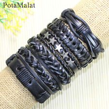 Find great deals for PotaMalat 6pcs Genuine Handmade Leather Bracelets Alloy for Men and Women-D71. Shop with confidence on eBay!