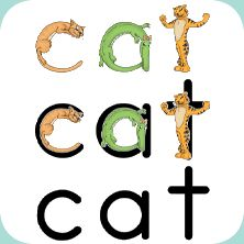 zoo-phonics program....what our local schools use to teach the alphabet/reading.  Maybe buy before preschool?