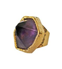 AMETHYST point cuff ring