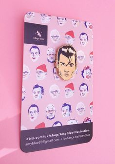 Johnny Depp Enamel Pin: Solo Edition by AmyBlueIllustration