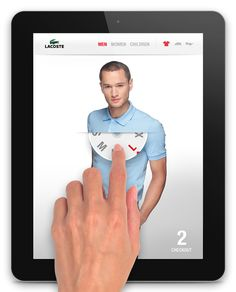 Lacoste iPad App Mobile UI Design - Love this