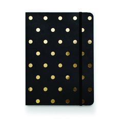 Black and Gold Foil Dot Notebook- i just have a thing for pretty journals