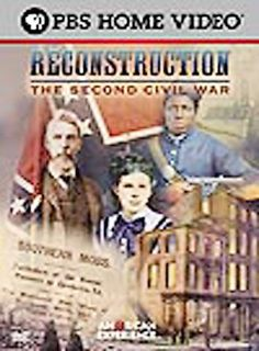 Reconstruction: The Second Civil War [E668 .R436 2004] The story of the tumultuous years after the Civil War during which America grappled with how to rebuild itself, how to successfully bring the South back into the Union and at the same time, how former slaves could be brought into the life of the country Director:Llewellyn M. Smith Writers:Elizabeth Deane, Patricia Garcia Rios, Stars:Ryan Dupree, Dion Graham