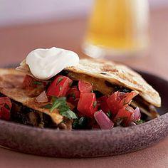 Quesadilla Recipes | Portobello Quesadillas with Pico de Gallo | CookingLight.com