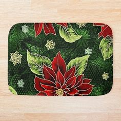 Green Christmas, Christmas Items, Holiday Outfits, Holiday Treats, Red Green, Colorful Backgrounds, Bath Mat, Party Supplies, Duvet Covers