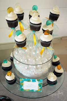 Love the bubble like candies at the top of the cupcakes