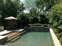 delightful. simple.elegant... love the pool entry