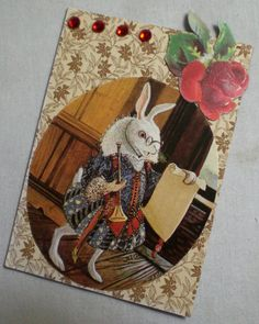 Alice in Wonderland (Malcolm Ashman) Artist Trading Card. (ATC, ACEO, Art Card)