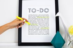 BFF To-Do List 8x10 Art Print at A Beautiful Mess