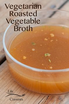 Vegetarian  Roasted Vegetable Broth – You don't have to buy broth with all that  sodium; try making your own. Making your own is so easy, and, so  healthy! I promise, you'll like it. It'll make your soups richer. Your casseroles, tastier. Your sauces, saucier. And, it'll make everything healthier and fresher.