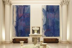 Helena Hernmarck; Blue Wash 1 and 2; tapestry