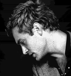 Jude Law #black and white #hot #2012