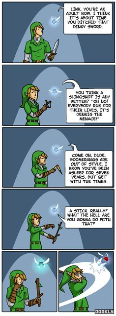 Navi Tells Link to Grow Up - Dorkly Comic... I've wanted to do that to Navi a time or three