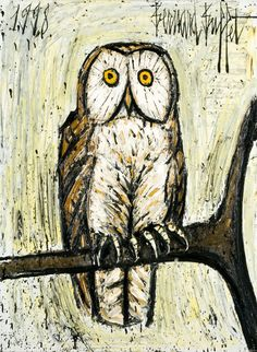 bernard buffet - French expressionism - owl painting