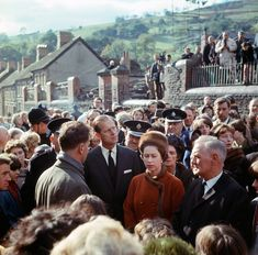 The Queen and Prince Philip visited Aberfan in South Wales on October 1966 after the collapse of a colliery spoil tip killed 116 children and 28 adults Picture: TASCHEN Queen Pictures, Rare Pictures, The Crown Season, Prince Phillip, Elisabeth, Thing 1, British Monarchy, The Eighth Day, Queen Elizabeth Ii
