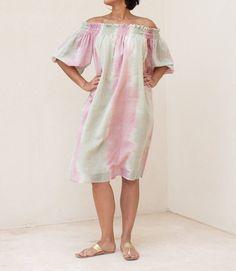 Mint Ikat Flow Dress