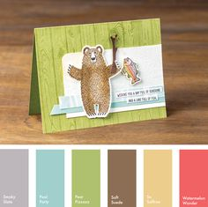 Smoky Slate, Pool Party, Pear Pizzazz, Soft Suede, So Saffron & Watermelon Wonder #StampinUpColorCombos
