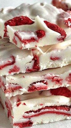 Strawberries and Cream Chocolate Bark