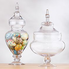 apothecary jars work for everyday decorating, holiday decorating, party decorating, or wedding decorating. They rock.