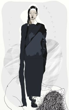Anna-Milada-Yohji-Yamamoto-Fall-2016