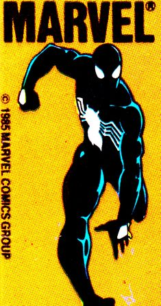 Black Suit Spidey Corner Box (1985) - #art #comics #comicbooks #superheroes