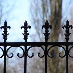 top to a iron fence fleur de lis YUM!!!!