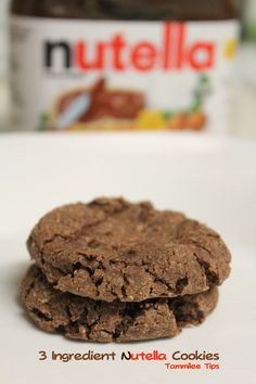 3 Ingredient Nutella Cookie Recipe