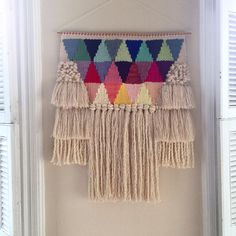 Weaving woven wall hanging tapestry by Maryanne Moodie Weaving Wall Hanging, Weaving Art, Tapestry Weaving, Loom Weaving, Tapestry Wall Hanging, Hand Weaving, Wall Hangings, Art Fil, Weaving Projects