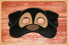 ON SALE Felt Dog Mask for Childrens Pretend Play by AHeartlyCraft