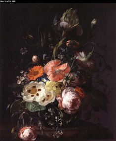 Rembrandt- still life with flowers.  .