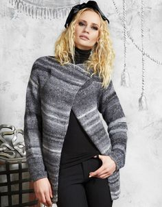 Giacca in lana variegata