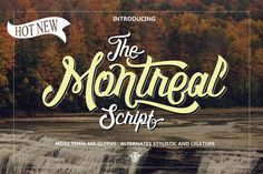 The Montreal Script Demo is a trial version of a typeface with taste of modern and classic touch. This typeface is coming from the inspiration of vari...