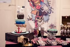 Una impactante mesa para una fiesta pirata / A striking pirate party table