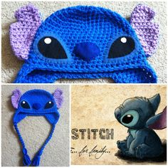 Crochet Stitch Beanie/Hat Lilo And Stitch van Potterfreakg op Etsy, $18.00